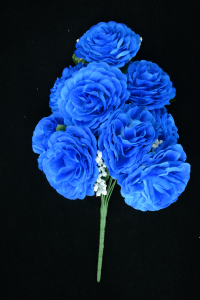 Royal Blue Open Rose Bush x9  (Lot of 1) SALE ITEM