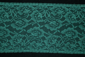 6.25 inch Flat Lace, Hunter Green (10 yards)