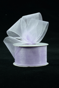 Organza Ribbon , Lavender, 1.5 Inch x 25 Yards (1 Spool) SALE ITEM