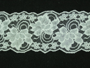 4 Inch Flat Galloon Lace, Ivory (25 yards) MADE IN USA