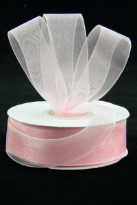 Organza Ribbon , Light Pink, 7/8 Inch x 25 Yards (1 Spool) SALE ITEM