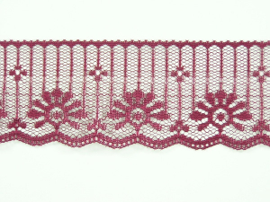 1.875 inch Flat Lace, wine (50 yards)