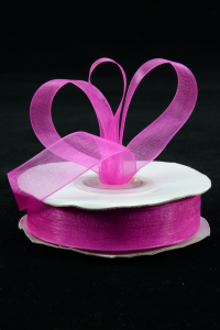 Organza Ribbon , Fuchsia, 5/8 Inch x 25 Yards (1 Spool) SALE ITEM