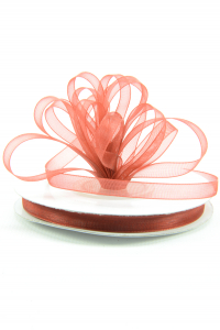 Organza Ribbon , Red, 1/4 Inch x 25 Yards (1 Spool) SALE ITEM