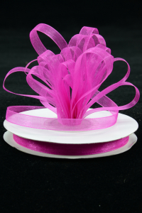 Organza Ribbon , Fuchsia, 1/4 Inch x 25 Yards (1 Spool) SALE ITEM