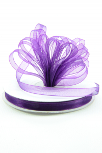 Organza Ribbon , Purple, 1/4 Inch x 25 Yards (1 Spool) SALE ITEM