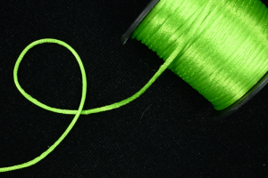 Round Satin Cord, Apple Green, 2.5mm x 50 Meters (1 Spool) SALE ITEM