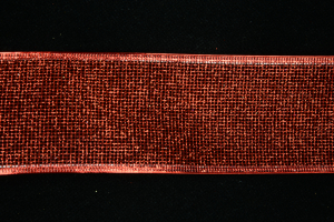 Red Glittered Mesh Christmas Wired Ribbon, 2.5 Inch x 50 Yards (50 Yards) SALE ITEM