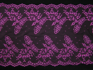11.625 Inch Flat Double Edge Galloon Lace, Wine (LOT OF 1 YARD) MADE IN USA