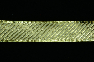 1.5 Inch Wired Gold Metallic Striped Christmas Ribbon (25 Yards) SALE ITEM