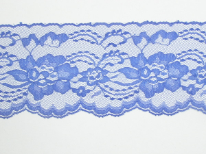 4 Inch Flat Lace, Royal Blue (10 yards) MADE IN USA