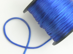 Round Satin Cord, Royal Blue, 2.5mm x 40 Meters / 43.74 Yards (1 Spool) SALE ITEM