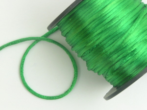 Round Satin Cord, Emerald, 2.5mm x 50 Meters (1 Spool) SALE ITEM