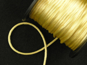 Round Satin Cord, Gold, 2.5mm x 50 Meters (1 Spool) SALE ITEM