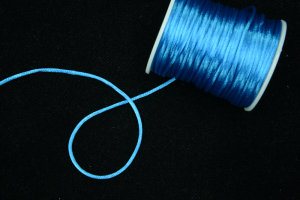 Round Satin Cord, Brilliant Blue, 2.5mm x 50 Meters (1 Spool) SALE ITEM