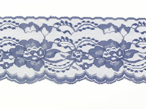 4 Inch Flat Lace, Navy Blue (10 yards)