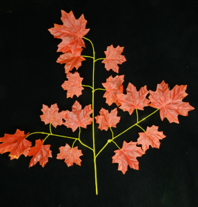 Orange Fall Maple Leaf Spray x 15 Leaves (Lot of 12) SALE ITEM