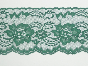 4 Inch Flat Lace, Hunter Green (10 yards)