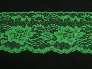 4 Inch Flat Lace, Emerald Green (10 yards) MADE IN USA