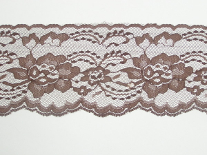 4 Inch Flat Lace, Brown (10 yards)