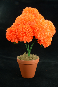 Bright Orange Carnation-Mum Bush x12  (Lot of 12) SALE ITEM