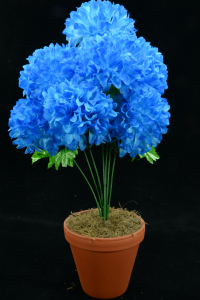 Royal Blue Carnation-Mum Bush x7  (Lot of 1) SALE ITEM