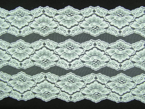 10.25 inch Flat Double Edge Galloon Lace, Ivory (10 yard bolt) MADE IN USA