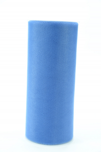 6 Inches Wide x 25 Yard Tulle, Smoke Blue (1 Spool) SALE ITEM