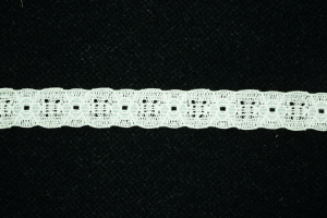 0.5 inch Elastic Flat Lace, Ivory (1.4 lbs) MADE IN USA