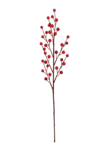 Red WATER-PROOF Berry Spray x 35 (lot of 1 Stem) SALE ITEM