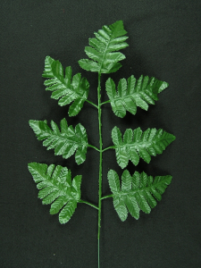 Artificial Leather Fern Spray With 7 Leaves (lot of 12 pc.)
