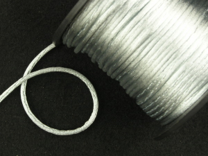 Round Satin Cord, Silver, 1.5mm x 76 Meters / 83.11 Yards (1 Spool) SALE ITEM
