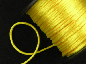 Round Satin Cord, Yellow, 1.5mm x 76 Meters / 83.11 Yards (1 Spool) SALE ITEM