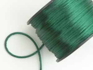 Round Satin Cord, Hunter Green, 1.5mm x 76 Meters / 83.11 Yards (1 Spool) SALE ITEM