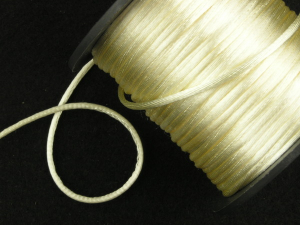 Round Satin Cord, Ivory, 1.5mm x 76 Meters / 83.11 Yards (1 Spool) SALE ITEM