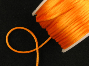 Round Satin Cord, Orange, 1.5mm x 76 Meters / 83.11 Yards (1 Spool) SALE ITEM