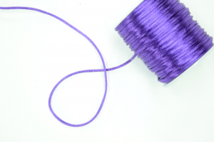 Round Satin Cord, Purple, 1.5mm x 76 Meters / 83.11 Yards (1 Spool) SALE ITEM