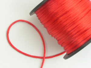 Round Satin Cord, Red, 1.5mm x 76 Meters / 83.11 Yards (1 Spool) SALE ITEM