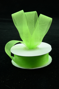 Organza Ribbon , Apple Green, 1.5 Inch x 25 Yards (1 Spool) SALE ITEM
