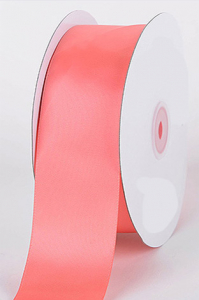 Single Faced Satin Ribbon , Coral, 1/4 Inch x 25 Yards (1 Spool) SALE ITEM