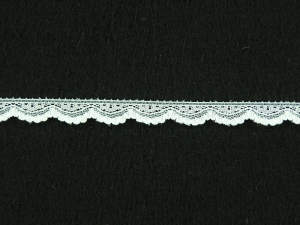 .375 inch Flat Lace, White (100 yards) 2898 White MADE IN USA