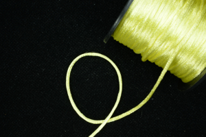 Round Satin Cord, Baby Maize, 1/16 Inch x 50 Yards (1 Spool) SALE ITEM