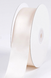 Single Faced Satin Ribbon , Antique White, 1/4 Inch x 25 Yards (1 Spool) SALE ITEM