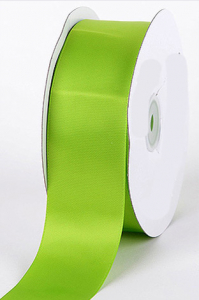 Double Faced Satin Ribbon , Apple Green, 1/8 Inch x 50 Yards (1 Spool) SALE ITEM