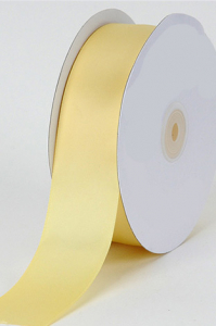 Double Faced Satin Ribbon , Baby Maize, 1/8 Inch x 50 Yards (1 Spool) SALE ITEM