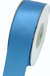 Single Faced Satin Ribbon , Copen Blue, 3/8 Inch x 25 Yards (1 Spool) SALE ITEM