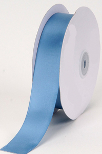 Single Faced Satin Ribbon , Antique Blue, 7/8 Inch x 25 Yards (1 Spool) SALE ITEM