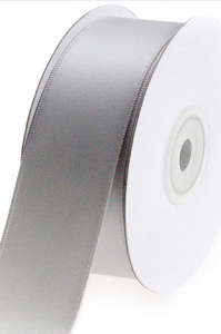 Single Faced Satin Ribbon , Gray, 7/8 Inch x 25 Yards (1 Spool) SALE ITEM