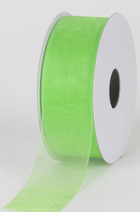 Organza Ribbon , Apple Green, 7/8 Inch x 25 Yards (1 Spool) SALE ITEM