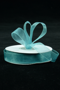 Organza Ribbon , Jade, 7/8 Inch x 25 Yards (1 Spool) SALE ITEM